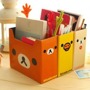 "Quirky ""Rilakuma"" (Relax Bear) file boxes"