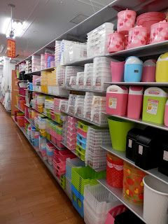 Japanese dollar store bins-every organizer's dream store